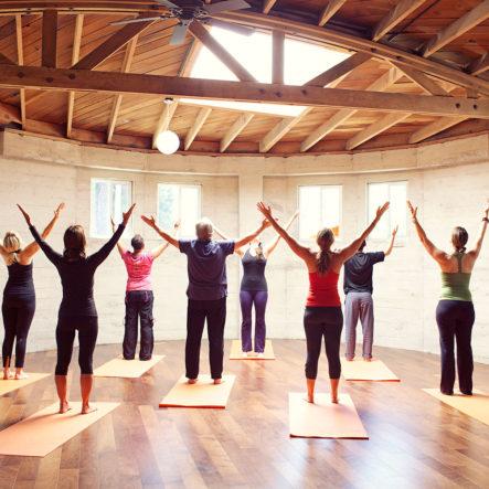 luma yoga ceiling and hardwood floors