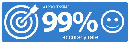 AJ Processing 99% accuracy rate