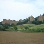 De antieke weg Setteponti tussen Firenze en Arezzo