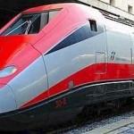 De trein nemen in Toscane.