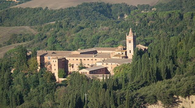 De abdij van Monte Oliveto