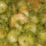 Gamberi in salsa verde ( garnalen in groene saus)