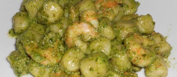 gamberi in salsa verde
