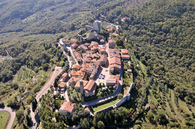 Civitella in Val di Chiana vanuit de hoogte
