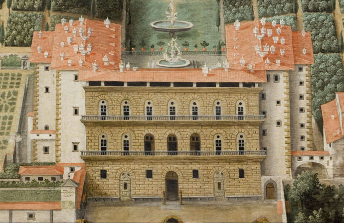 Palazzo Pitti-ontwerp Brunelleschi