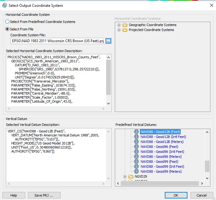 Import the Custom Projection File