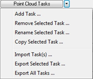 Point Cloud Task Options