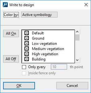 Write Points Loaded in TerraScan into the Design File