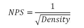 NPS relationship to Density
