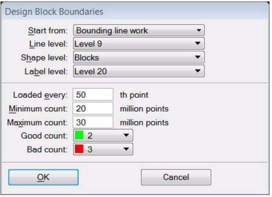 Design Block Boundaries within TerraScan