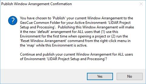 Confirmation about Publishing Window Arrangement