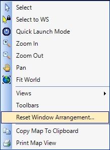 Option to Reset the Window Arrangement