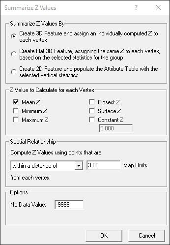 Summarize Z - Different values for each vertex: Elevation information is stored in the vertices