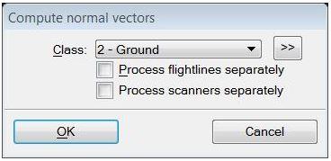 Compute Normal Vectors Dialog