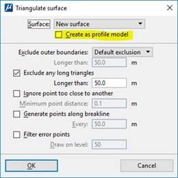 Create as Profile Model option