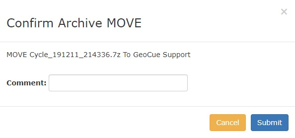 Archiving Cycles to Reckon confirm archive move/copy dialog