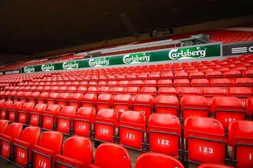 Liverpool seats at Anfield