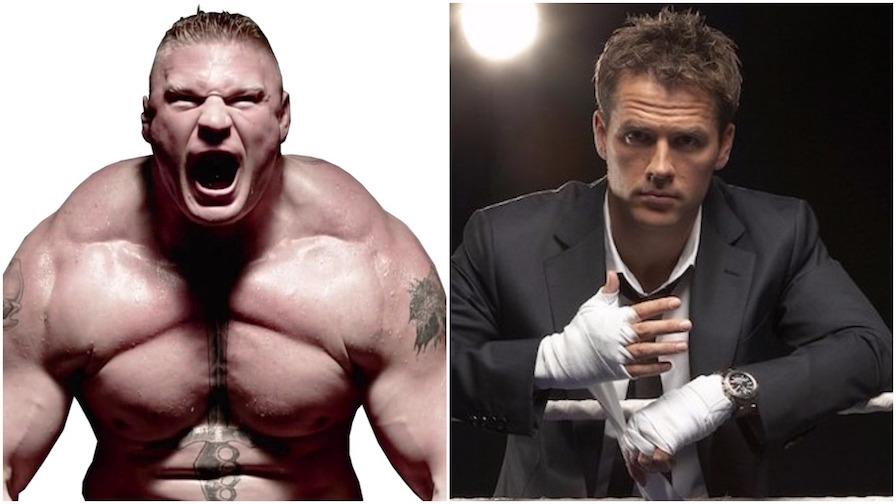 Michael Owen and Brock Lesnar