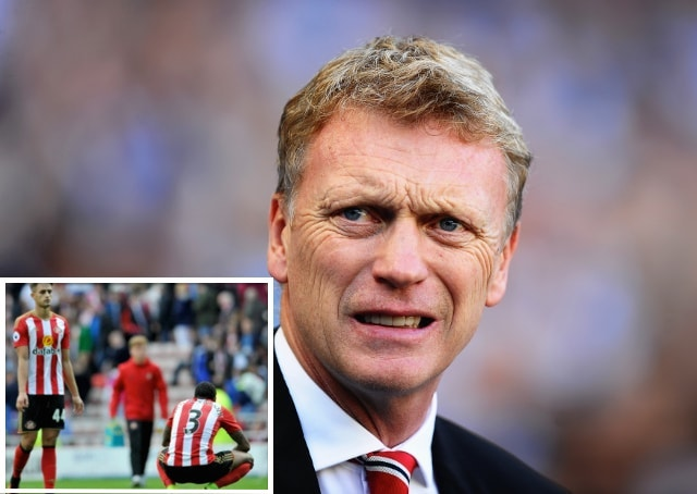Moyes wincing