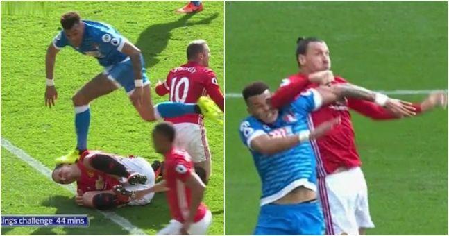 Ibrahimovic clashing with Mings