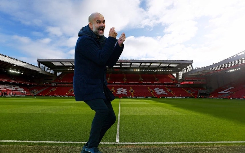 Pep at Anfield