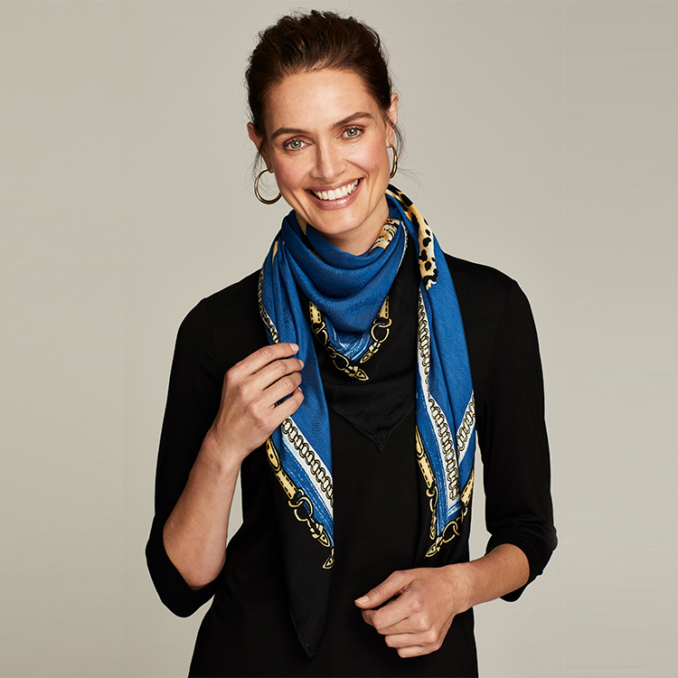 Chico's oblong scarves are versatile