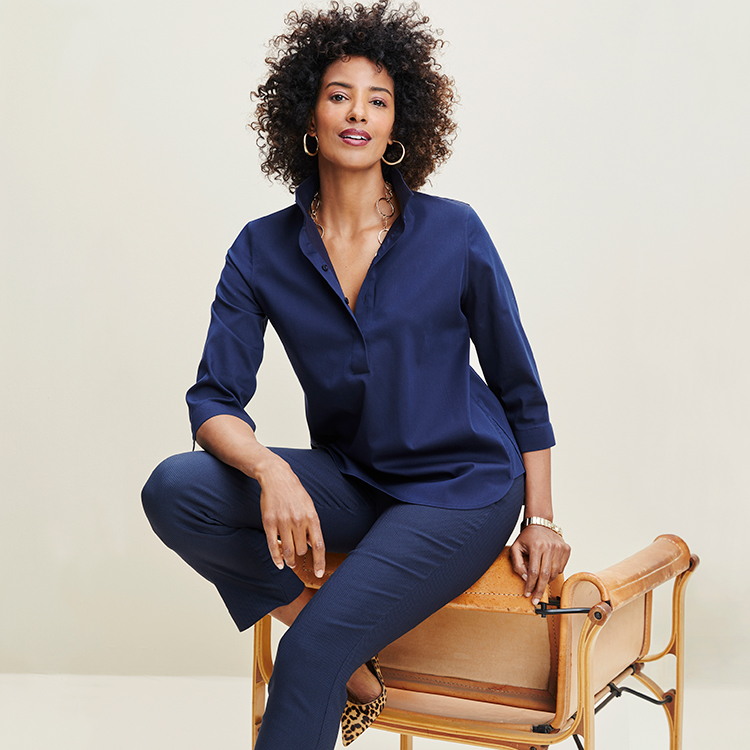 The Brigitte pant at Chico's flatters all body types.