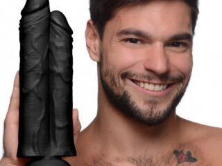 Double Stuffer 10 Inch Dildo - Black Double Stuffer 10 Inch Dildo - Black