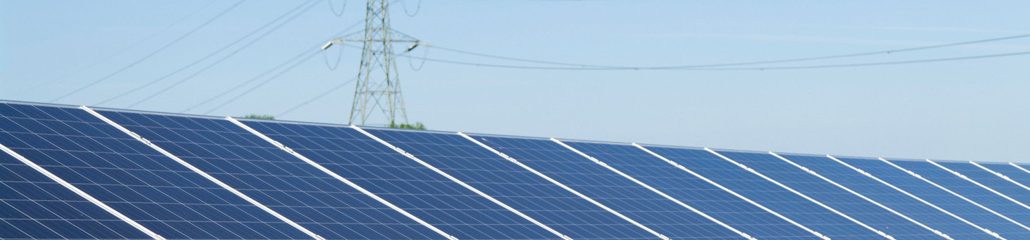 Solar Panels and Power Transmission Line