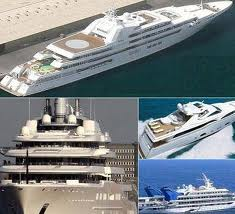 Yachts of the super rich