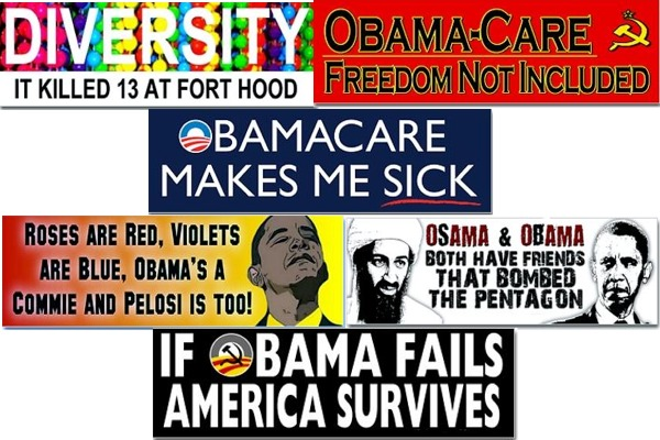 Obama haters rampage