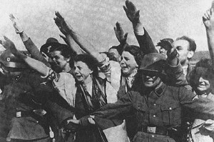 Hitlers annexation of Czechoslovakia.