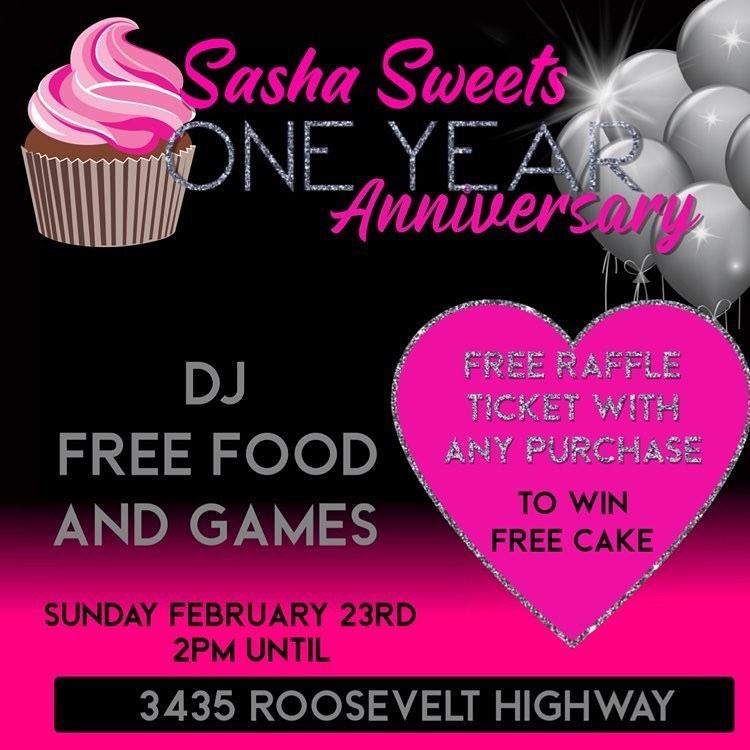 Sasha Sweets One Year Anniversary