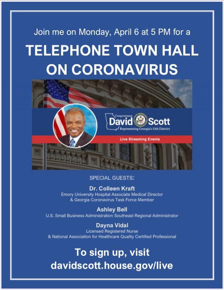 congressman david scott - telephone town hall