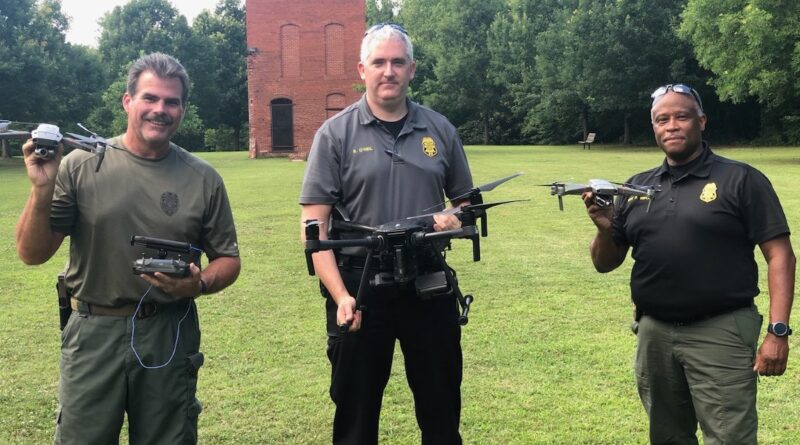 south fulton police - drones holster sensors