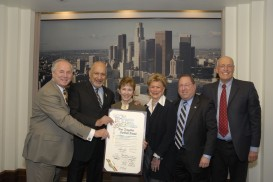 PR recognition of Farr Marketing from Los Angeles City Council for Los Angeles Jewish Home