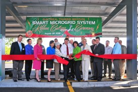 Smart Microgrid system nonprofit dedication ceremony and PR media special event