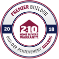 We are pleased to announce we have been recognized with the Premier Builder Award as part of the 2018 Annual Builder Achievement Awards Program through 2-10 Home Buyers Warranty (2-10 HBW). In addition to providing insurance-backed structural warranties, 2-10 HBW acknowledges outstanding performance in the home building industry. Every year they select builders who demonstrate skilled craftsmanship and construct inspired homes, while improving the quality of housing. The Premier Builder Award recognizes perceptive builders who respond well and adapt to changing market conditions. We have mastered growing our business to reach its full potential and sincerely understand homeowners' expectations when delivering the latest in new home preferences.