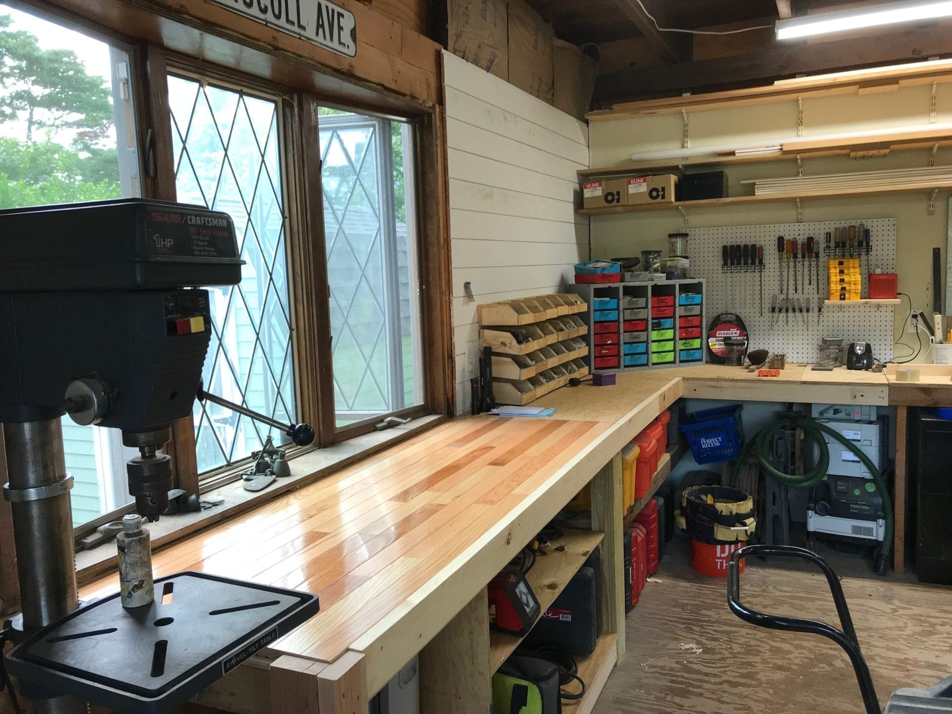 new workbench that is better organized