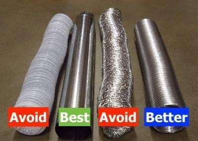 Dryer vent materials