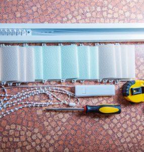 vertical blinds, installation of vertical blinds