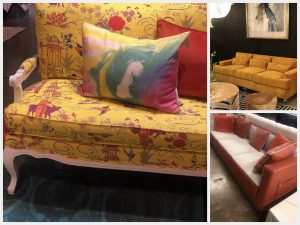 Furniture in yellow and other warm colors
