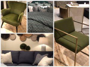 furniture in jewel tones