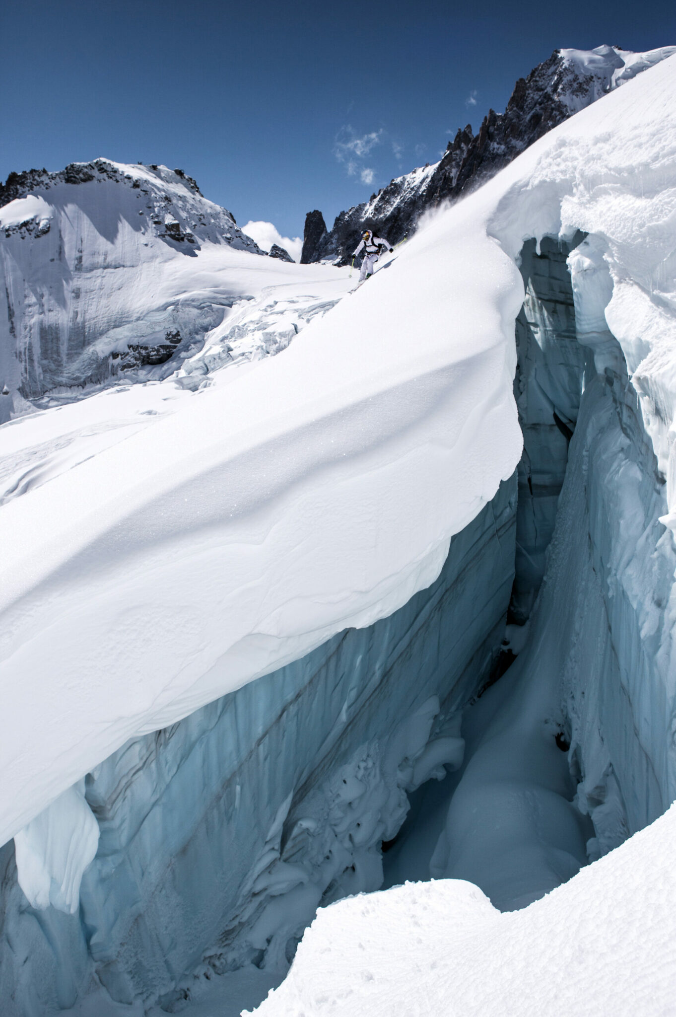 Skiing; Season 19/20; Chamonix; Mont-Blanc; Mer de Glace; Sota HS Jacket and Sota HS Pants, Nadine Wallner, Pro Team A thlete
