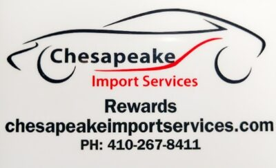 Chesapeake import services rewards