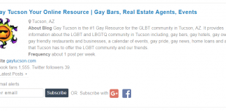 GayTucson Ranks in Top 15 Tucson Blogs