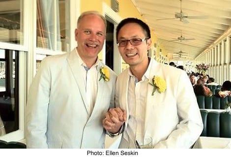 Chris Magnus and Husband Terrance Cheung