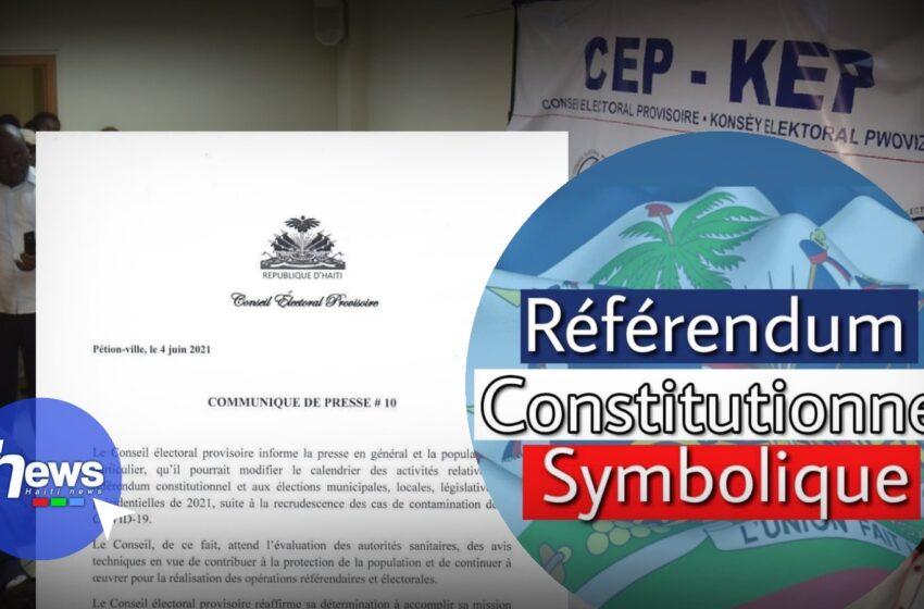 Le calendrier des activités relatives au référendum et aux élections pourrait être modifié selon le CEP