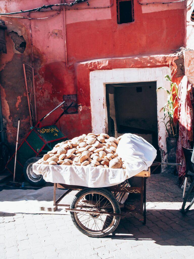 bread in a cart