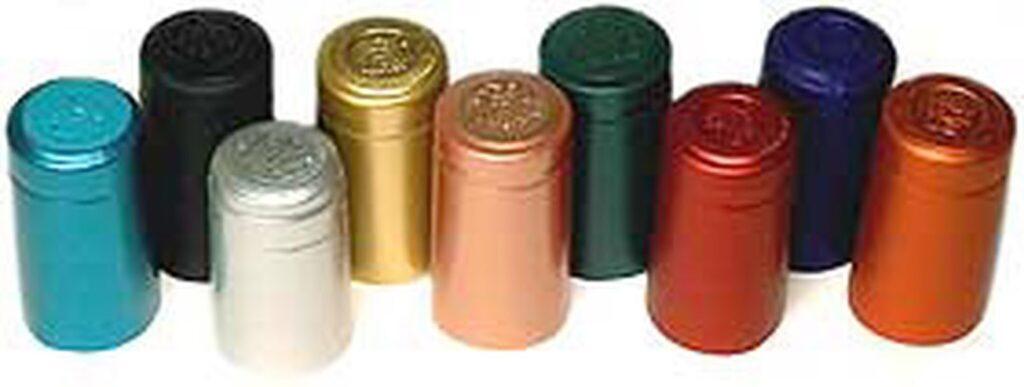Wine heat shrink capsules